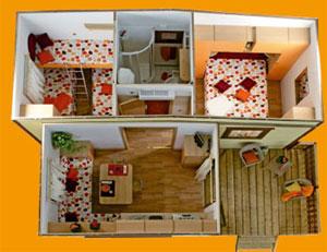 Camping oasi punta aderci bungalow foto - Mobili per case piccole ...